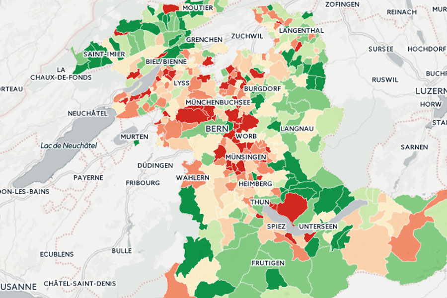 Karte Kanton Bern