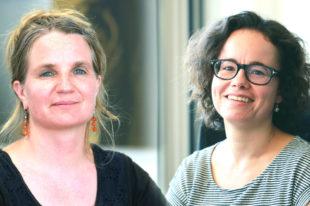 Teilnehmerinnen am Seitenwechsel: Dozentin Simone Münger und Praktikerin Valerie Miesch