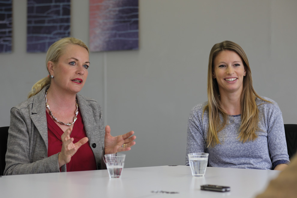 Sabine Hahn und Karin Peter im Interview