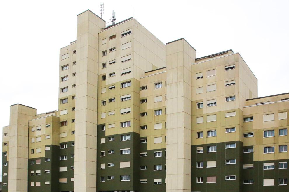 Ein Wohnblock im Allmendquartier