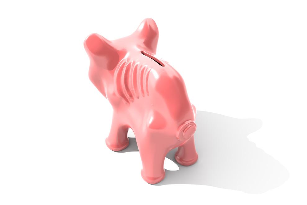 Abgemagertes Sparschwein